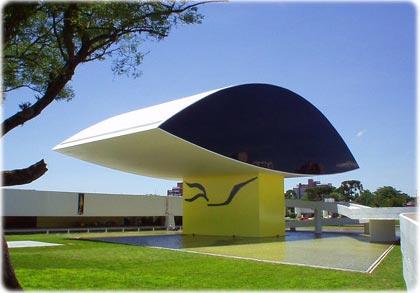 Museu Oscar Niemeyer em Curitiba Paraná