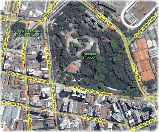 Mapa de Curitiba Imagem de Satlite Rotas